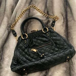Marc Jacobs Black Quilted Leather Stam Bag